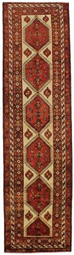 Admin Rugs 4X14 Geometric Vintage Runner Meshkin Persian Style Rug Oriental Area Carpet 3'8X13'7