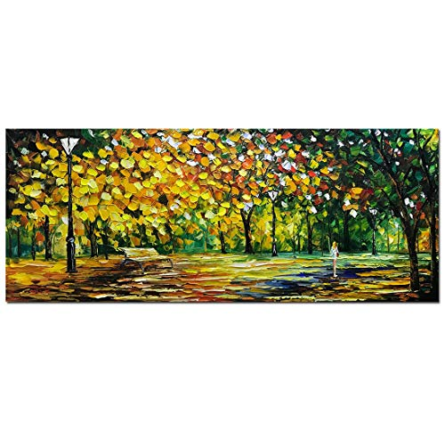 (V-inspire Art 24x60 inch Contemporary Abstract Oil Paintings,100% Hand Painted Frameless Canvas Painting, Modern Decorative Artwork on Canvas Wall Art for Home Decoration Wall Decor)