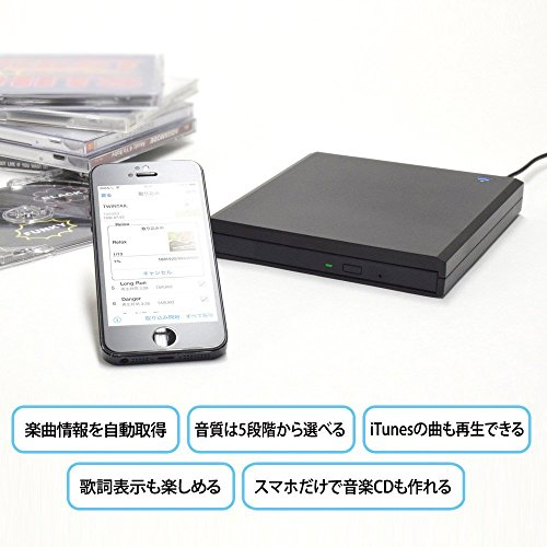 I-O DATA iOS & Android corresponding music CD capture drive CDRI-W24AI by I-O Data (Image #4)