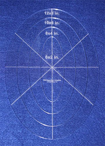 4 Piece Nested Oval Template Set 1/8