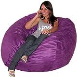 Cozy Sack 4-Feet Bean Bag Chair, Large, Purple