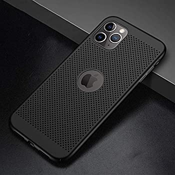 GerTong Heat Dissipation Case for iPhone 11 Pro Case, Ultra-Thin Hard PC Full Protective Cover [Visible Back Logo] Phone Case for iPhone 11 Pro 5.8 inch [2019 Release] Cooling Back Cover - Black