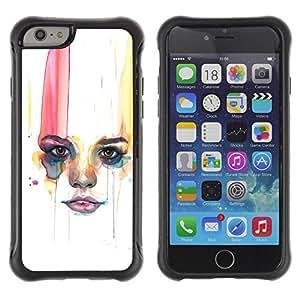 Suave TPU GEL Carcasa Funda Silicona Blando Estuche Caso de protección (para) Apple Iphone 6 / CECELL Phone case / / Woman Minimalist Lips /