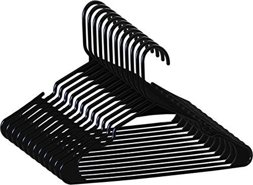 Zoyer Standard Plastic Hangers - Durable and Strong - Black (50) by Zoyer