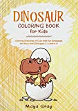 Dinosaur Coloring Book for Kids: Coloring Drawings of Cute and Fun Dinosaurs, for Boys and Girls ages 2-4 and 4-8