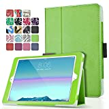 TNP iPad Pro 9.7 Case (Green) Ultra Slim Lightweight Protective Stand Folio Smart Cover with Card Slots, Stylus Holder, Auto Sleep/Wake Feature for Apple iPad Pro 9.7