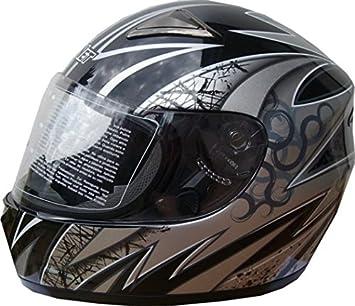 Amazon.es: Winnet Casco de Moto de fibra de vidrio y carbono integral homologado XS negro
