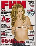 FHM FRANCE MAGAZINE NOVEMBER 2012, COVER GIRL MILLIE MACKINTOSH.