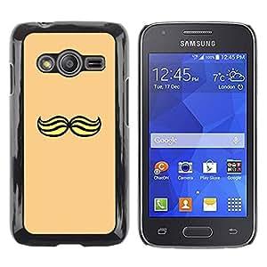 TopCaseStore / la caja del caucho duro de la cubierta de protección de la piel - Yellow Hipster - Samsung Galaxy Ace 4 G313 SM-G313F