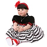 Ladora 23'' Soft Body Lifelike Adorable Doll with Moveable Arms Les for 6+ Children Dolly Toy AMC17005