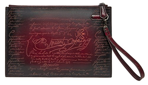 Wallet Purse Large Clutch Capacity Men's TERSE Cash Leather Bag Envelope Calfskin Holder Tobacco01 Wrist With Card Italian UxqEw0