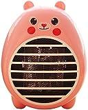 Safety Energy-Saving Heater Mini Office Desktop Electric Fan Heater, Pink