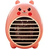 Safety Energy-Saving Heater Mini Office Desktop Electric Fan Heater, Pink