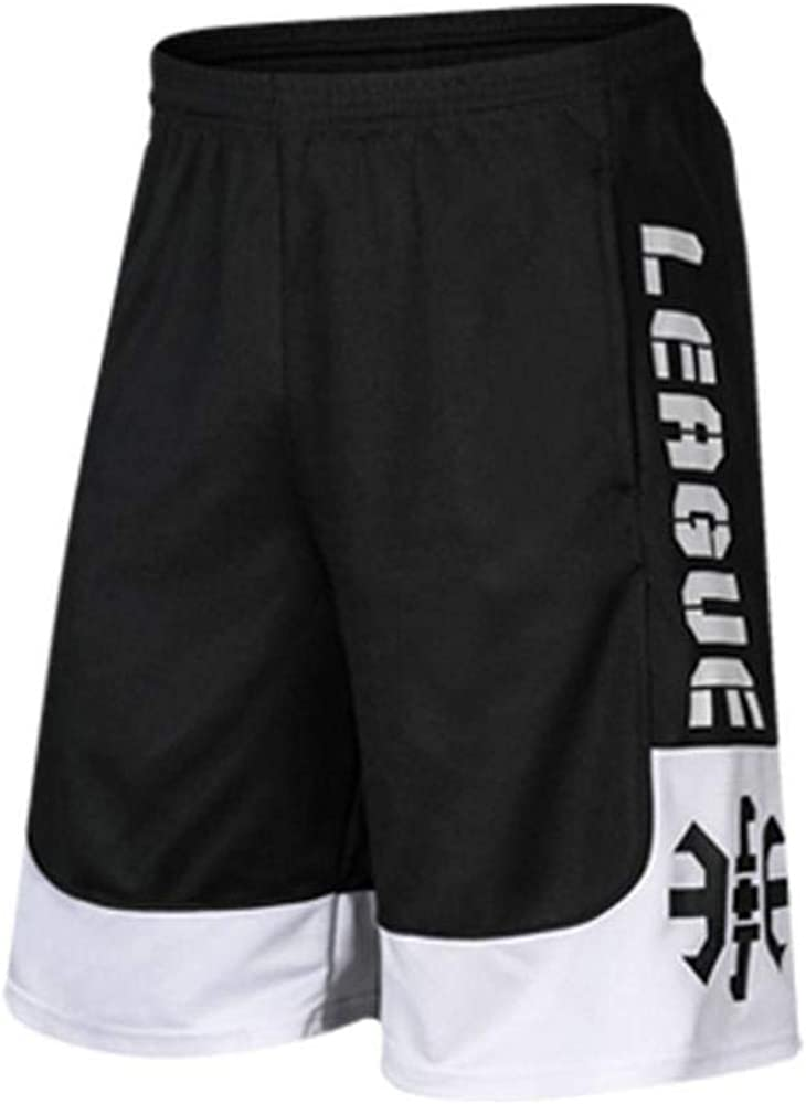 LCK Basketball Shorts Ensembles Hommes Courir Pantalon Court Longueur du Genou Respirant Entra/înement Gym Sport Shorts M/âle