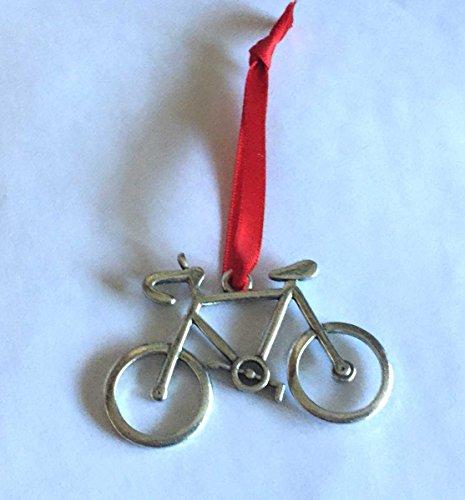 Dana Paige Designs Road Bike Bicycle Ornament - Road Bike Ornament - Handmade Road Bike Ornaments Decorations - Unique Bicycle Ornament (Bicycle Holiday Ornament)