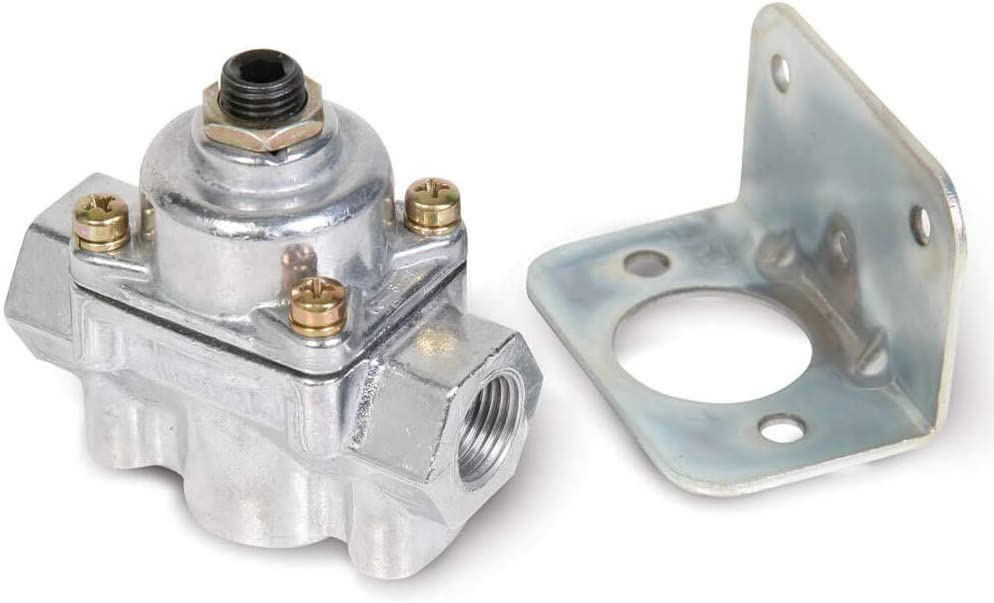 NEW HOLLEY CARBURETED BYPASS FUEL PRESSURE REGULATOR,STREET,STRIP,2 PORT,4.5-9 PSI,COMPATIBLE WITH ELECTRIC FUEL PUMPS W//RETURN LINE