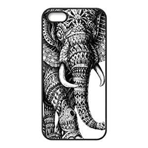 ZHANG Elephant Aztec Tribal- Hard Plastic Phone Case Back Cover iPhone 5 5s