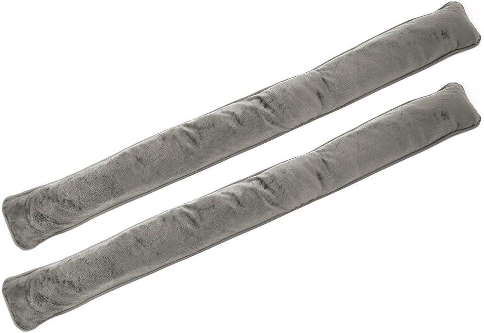 com-four® tapón de Tiro 2X para Puertas y Ventanas - tapón de Viento de Microfibra - ahorre energía con tapón de Tiro (02 Piezas - Topo)