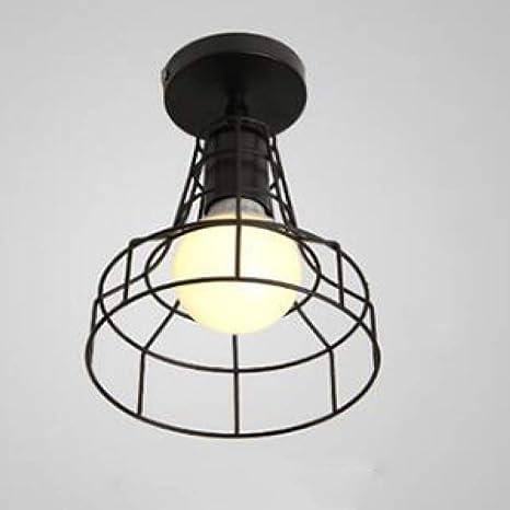 WSYYWD Hierro forjado negro E27 Luz de techo led para cocina Sala ...