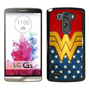 Host Sale LG G3 Case ,Fashion And Durable Designed With Wonder Women Black LG G3 Cover