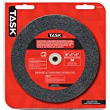 Task Tools T35644 6-Inch by 1-Inch Aluminum Oxide Bench Grinding Wheel, 36 Grit, 1-Inch Arbor