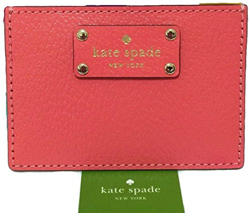kate spade wellesley graham wallet business card holder credit card holder flam peach - Kate Spade Business Card Holder