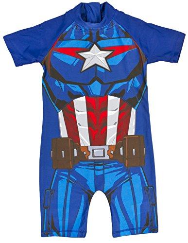 Marvel Captain America Sun Suit Swimwear 2-3 Years Blue