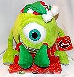"Disney Monsters Inc Plush 11"" Mike Dressed as Christmas Elf"