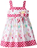Blueberi Boulevard Little Girls' Balloon Print Sundress