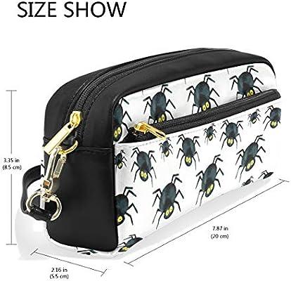 amazon com pencil case cosmetic bag halloween spirder white desk