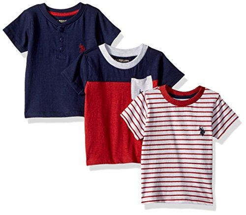 U.S. Polo Assn. Baby Boys 3 Pack Short Sleeve T-Shirt