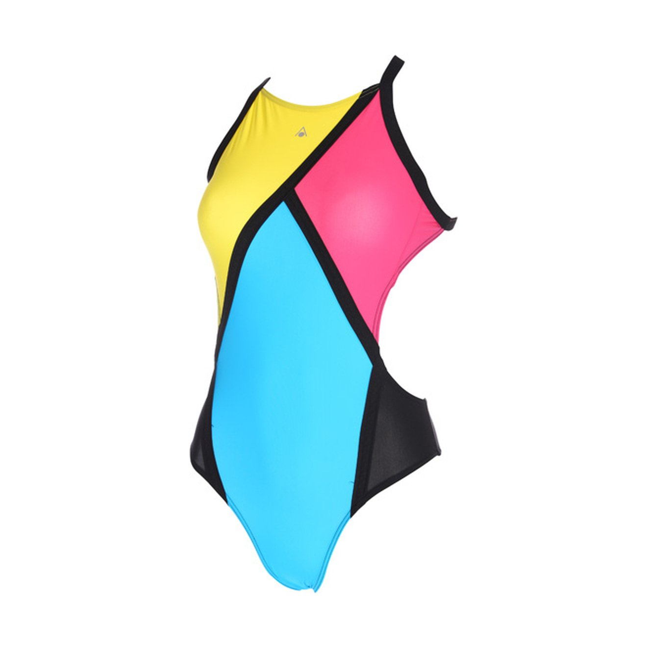 Aqua Sphere Damen Koa Badeanzug (34 DE) (Schwarz/Gelb) …