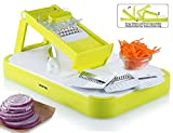 Gourmia GMS9255 Mandoline Slicer & Cutting Board Set Kitchen Slicer & Food Prep Board Combo With 4 Interchangeable Blades & FREE Bonus Knife, Durable