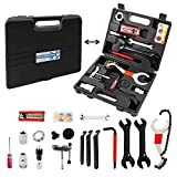 Navegando Bike Repair Tool Kit, Multi-Functional Bicycle Tool Kit with Torque Wrench for Repairing Tires, Brakes, Chains, Pedals, 18 PCS Complete Bike Tool with Portable Storage Box (Color: 18PCS, Tamaño: Large)