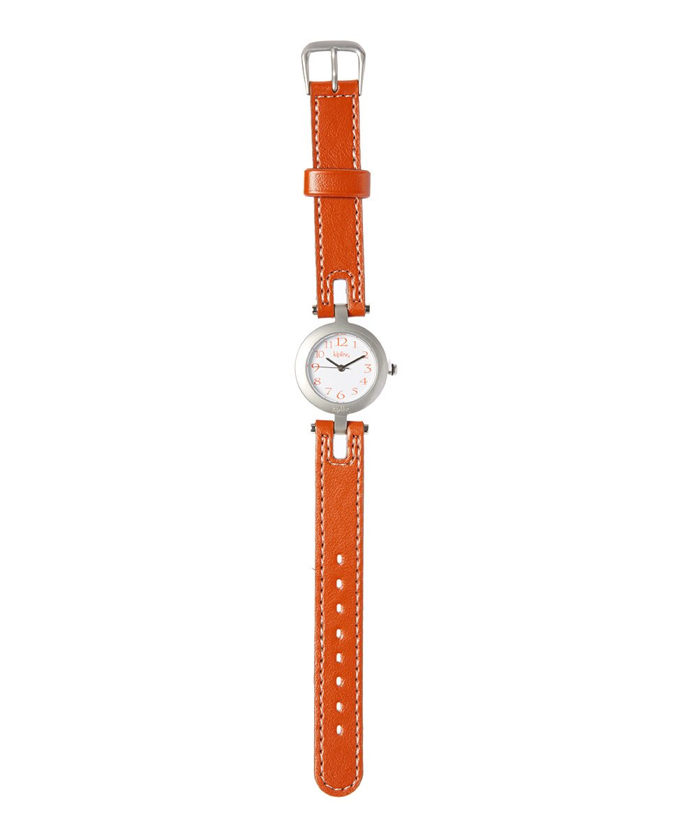 Kipling Kids Light Brown Leather Quartz Watch …