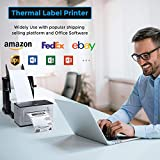 MUNBYN USB Label Printer, UPS 4 6 Thermal Shipping