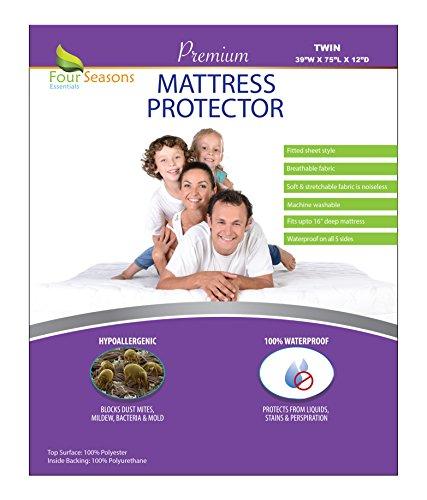 Four Seasons Essentials Twin Size Waterproof Mattress Protec