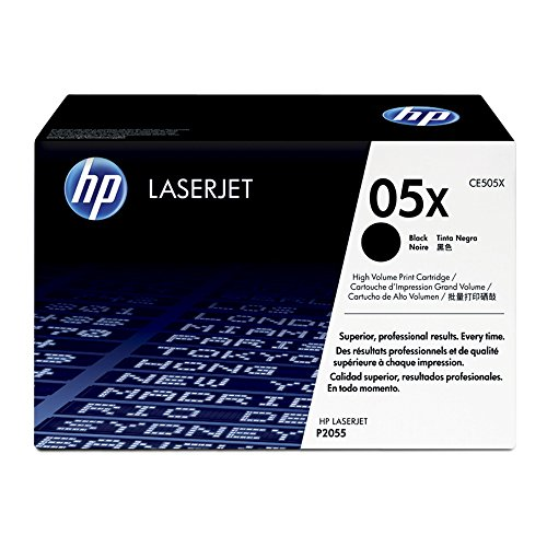 (HP 05X (CE505X) Black High Yield Original Toner Cartridge for HP LaserJet P2055 P2055dn)
