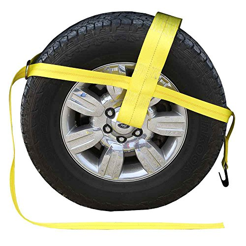 Yellow Adjustable Dolly Strap Flat