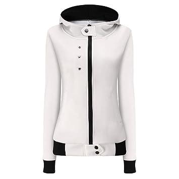 Las mujeres moda Chaqueta Otoño Invierno Terciopelo Abrigo Sudadera Cálido Con Capucha Outwear (M,
