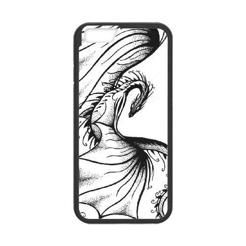 Dragon Tribal 006 coque iPhone 6 4.7 Inch Housse téléphone Noir de couverture de cas coque EOKXLLNCD19602