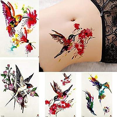 MRKAL Tatuaje Falso Tatuaje Inspirado Acuarela Tatuajes Pegatinas ...