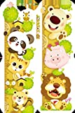 lovely lion wall decals Super Lovely Growth Chart Wall Decor Stickers with Lion Panda Pig Tiger Bear Removbale Peel and Stick Room Decor Wall Decals Cartoon for Kids Boys Girls Nursery