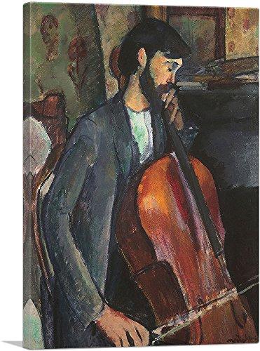 ARTCANVAS The Cellist 1909 Canvas Art Print by Amedeo Modigliani- 40