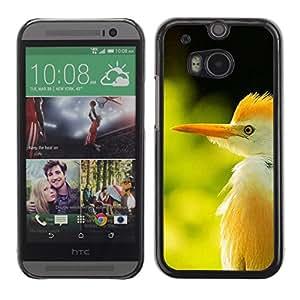Sun hierba verde verano Pájaro tropical- Metal de aluminio y de plástico duro Caja del teléfono - Negro - HTC One M8