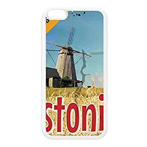 Estonia White Silicon Rubber Case for iPhone 6 Plus by Nick Greenaway + FREE Crystal Clear Screen Protector