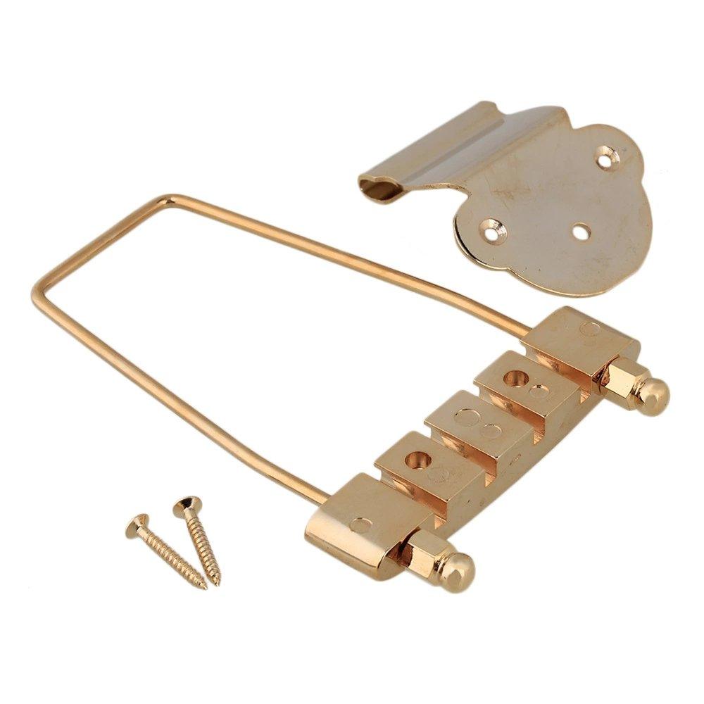 Gold 4 String Open Frame Tailpiece For Bass Guitar