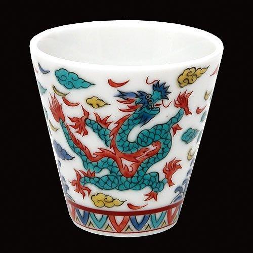 KUTANI YAKI(ware) Sake Cup Dragon by Kutani