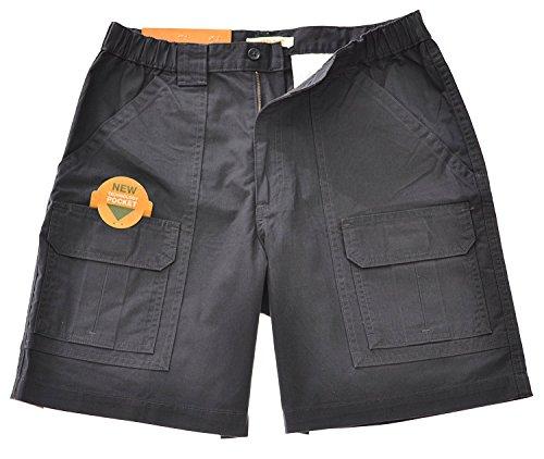 Savane Mens Comfort Hiking Cargo Shorts (38, Dark Grey) by Savane