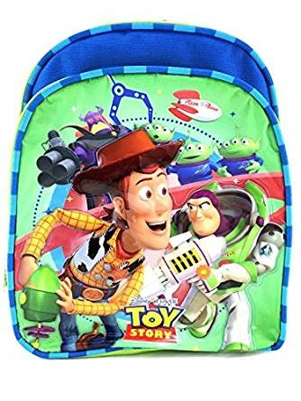 Disney Pixar Toy Story 10'' Canvas Green & Blue School Backpack